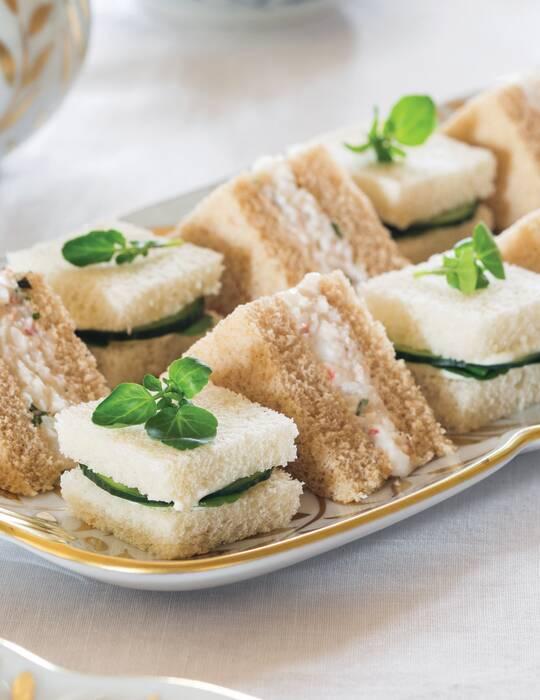 Basil-Shrimp Salad Tea Sandwiches
