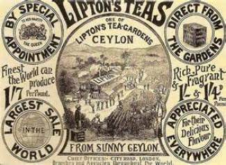 Vintage advertisement for Lipton Ceylon Tea.