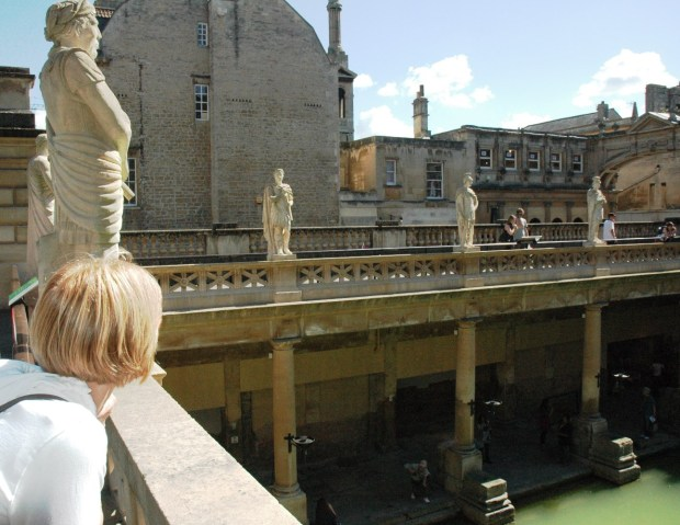 Overlooking the Great Bath.