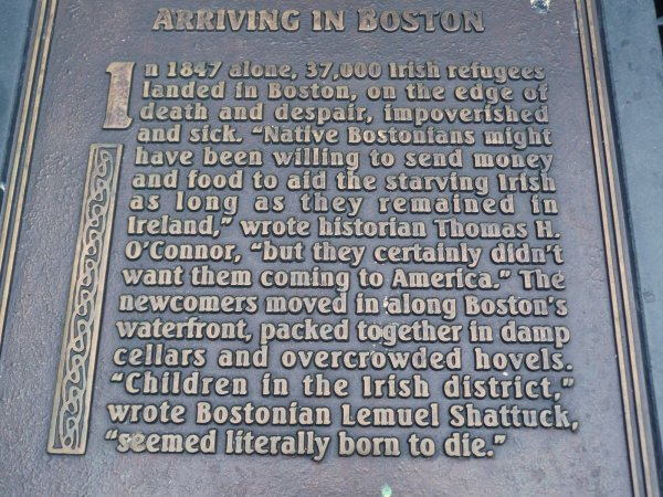 Irish Famine Memorial--Boston MA