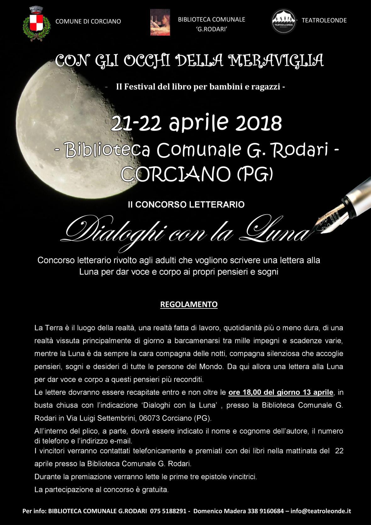 concorso adulti Dialoghi con la Luna