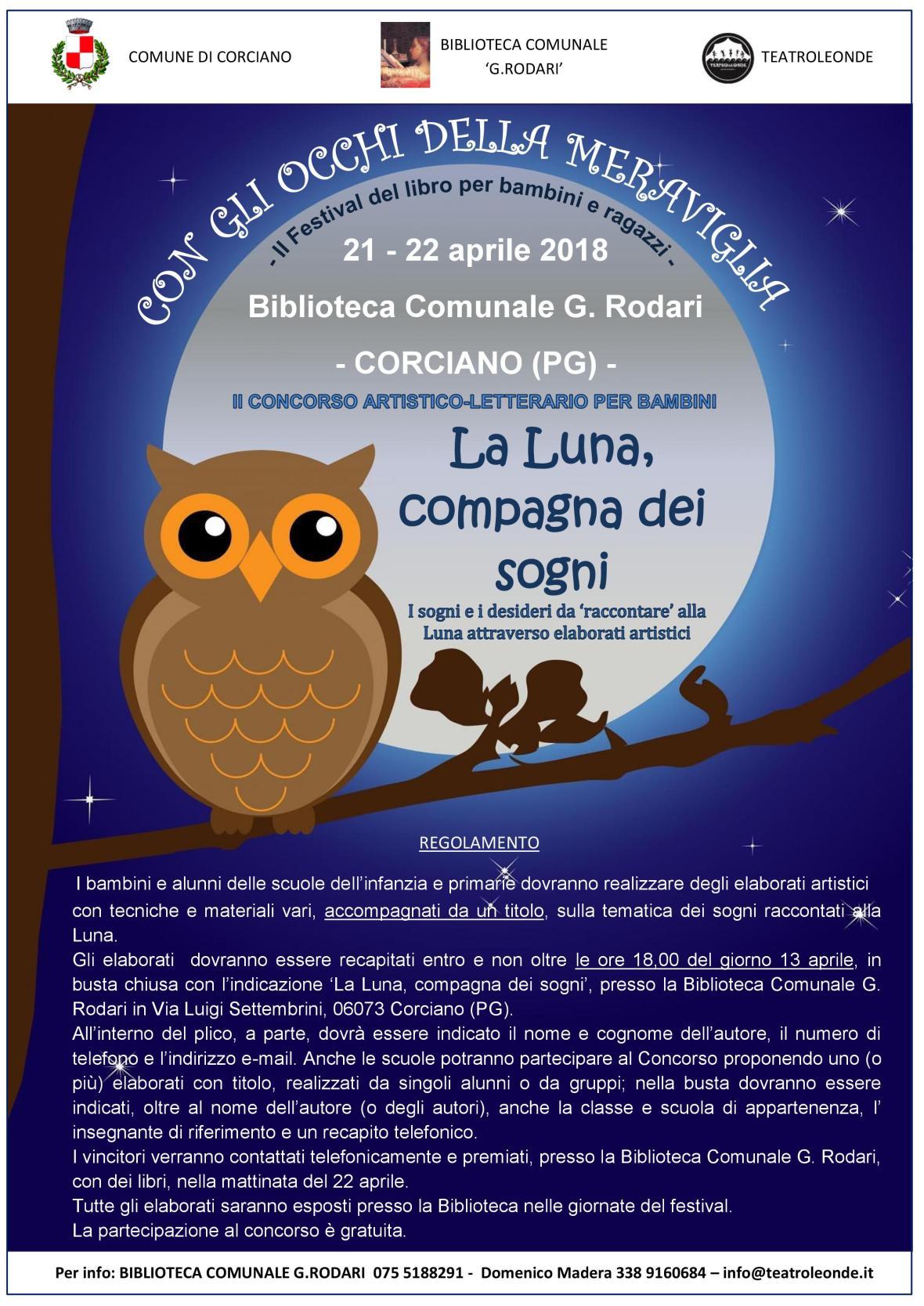 concorso bambini Luna compagna dei sogni