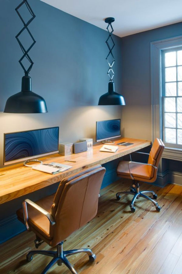 Working from Home in a Retro Space