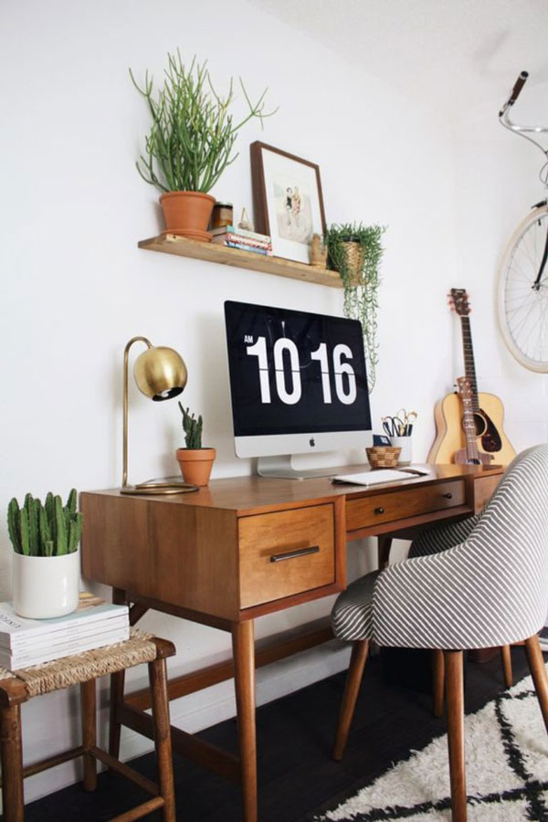 Working from Home in a Retro Inspired Space