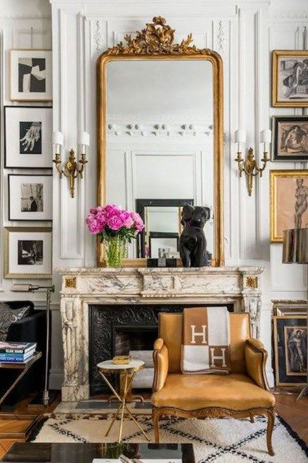 Eclectic Juxtaposition in French Interior Style