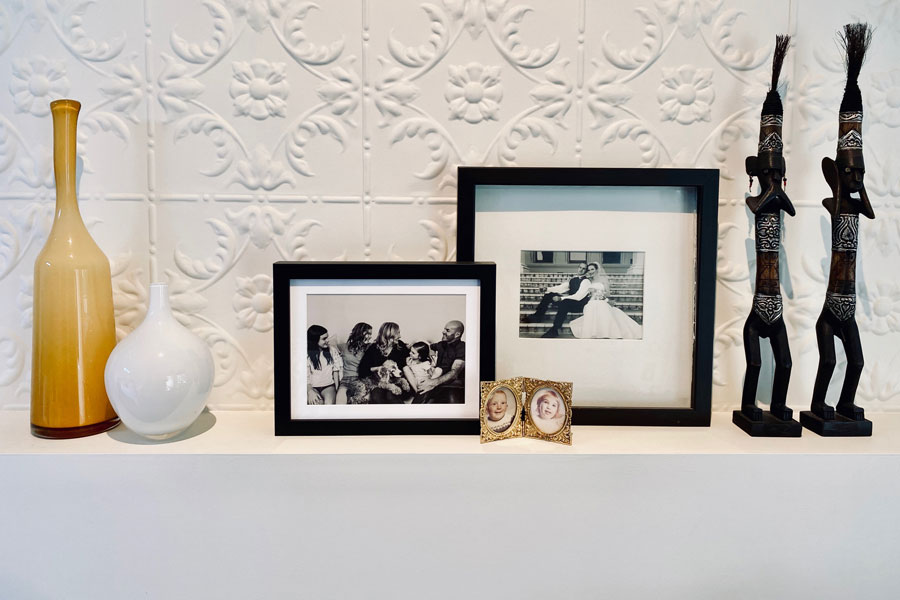 Narrow Picture Ledges are a Perfect Way To Display Photographs
