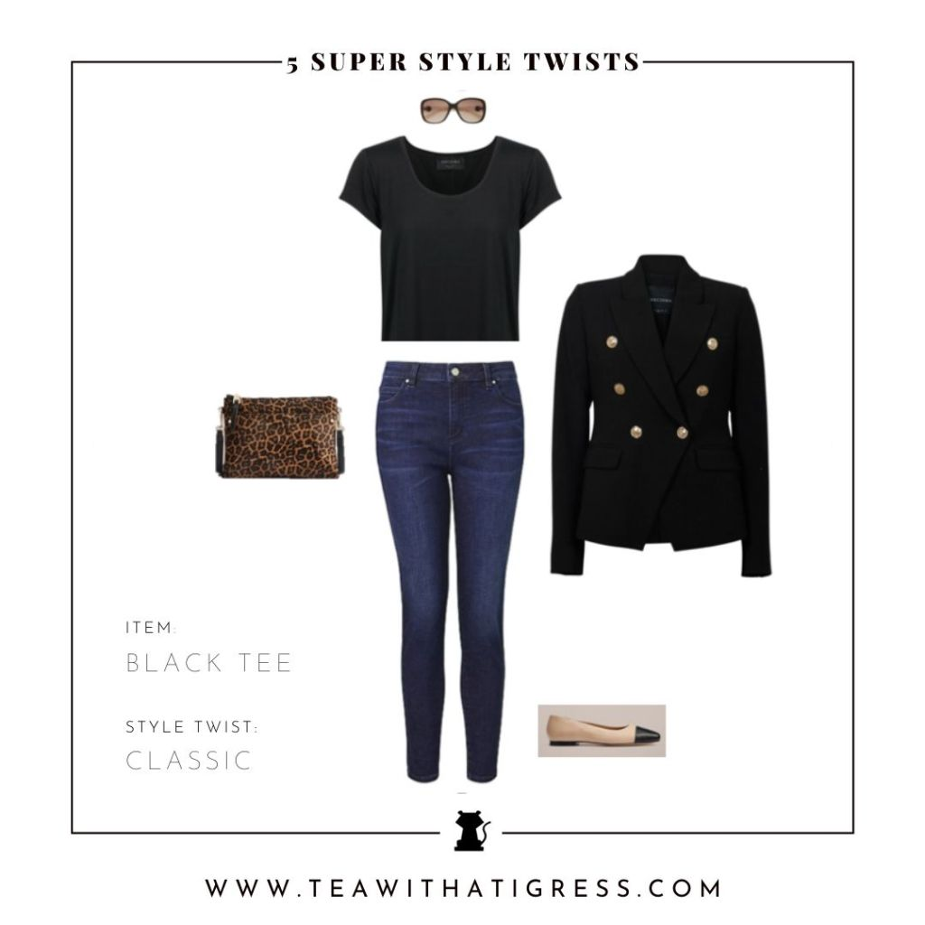 Classic Twist to Style A Black Tee