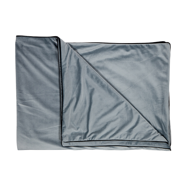 Luxury Velvet Throw in Grey Mist