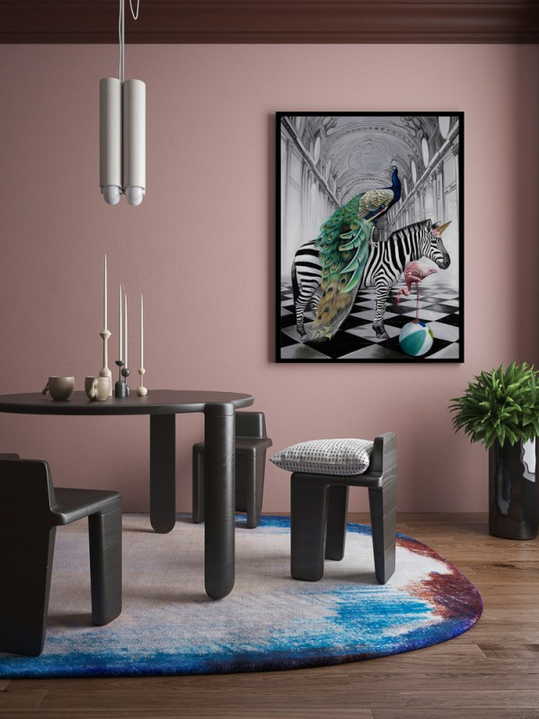 Exotic Wonderland Art Print in a Dining Room