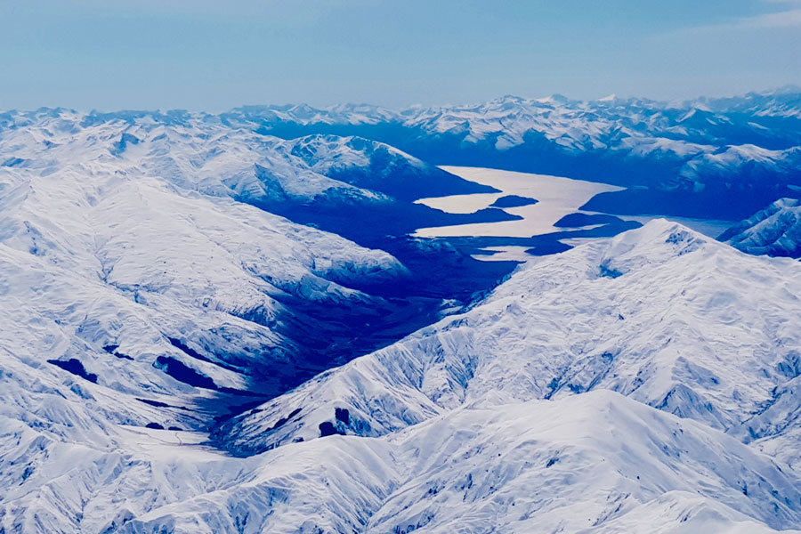 Our View Over The Southern Alps from the Plane
