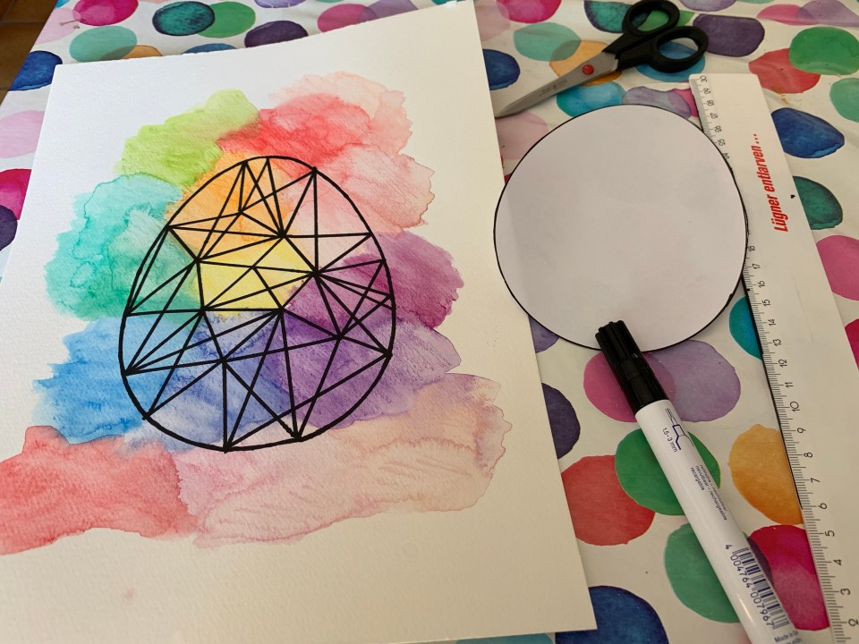 What you need to make this easy graphic water colour art