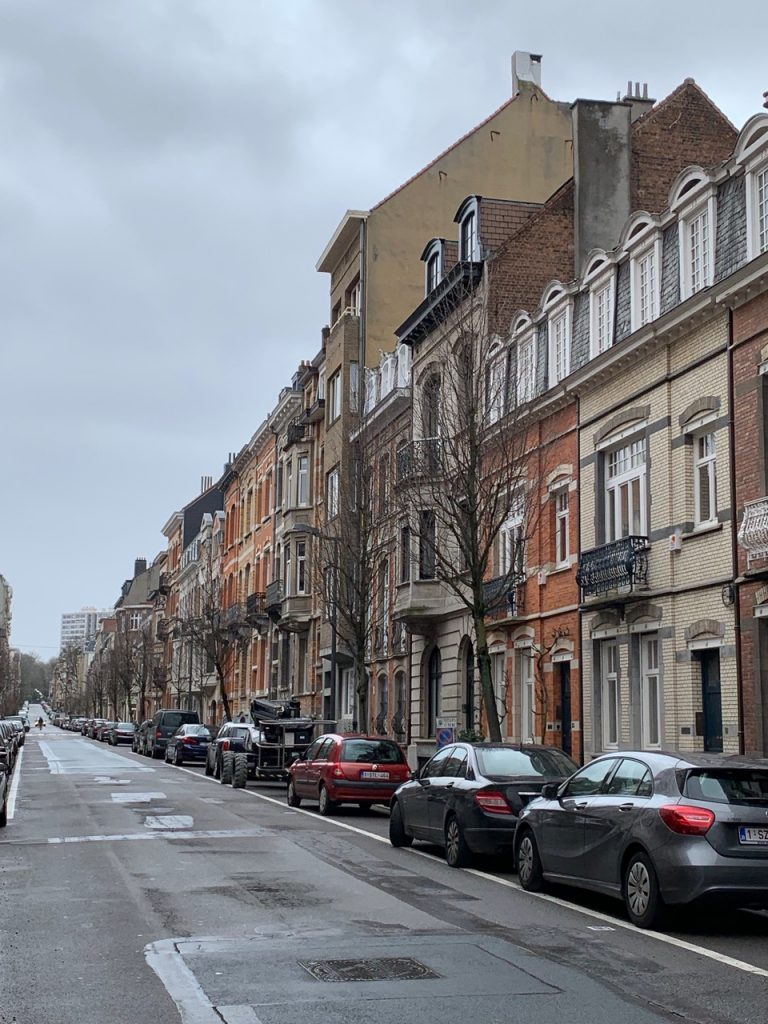 The street that I lived on in Brussels