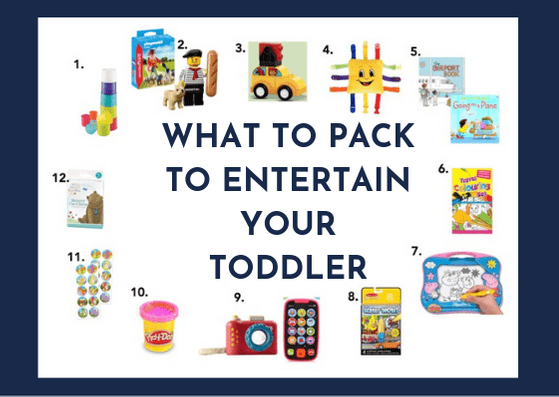 What to pack to entertain your toddler