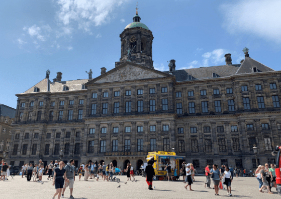 Royal Palace at Dam Square during 48 hours in Amsterdam with kids