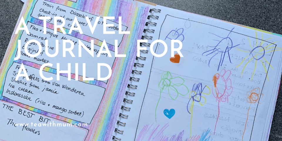 How to make a travel journal for a page: banner with journal entry image