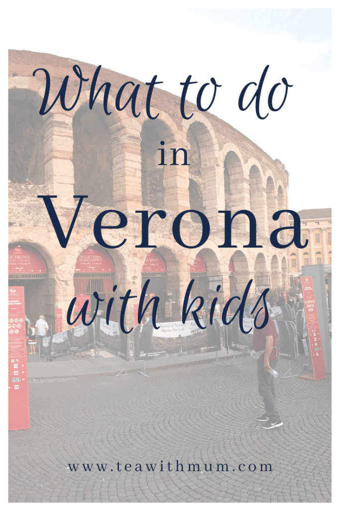 What to do in Verona with kids; view of the Arena di Verona on Piazza Bra