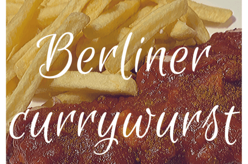 Berliner currywurst, simple but tasty recipe for this famous German street food to celebrate the 30th anniversary of the fall of the Berlin Wall; recipes from our travels