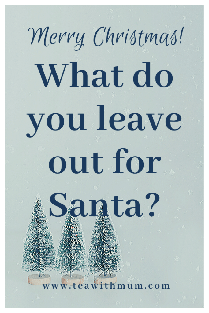 """We combined Christmases, but forgot to answer the question, """"What do you leave out for Santa?"""" Don't forget to work out this detail in advance"""