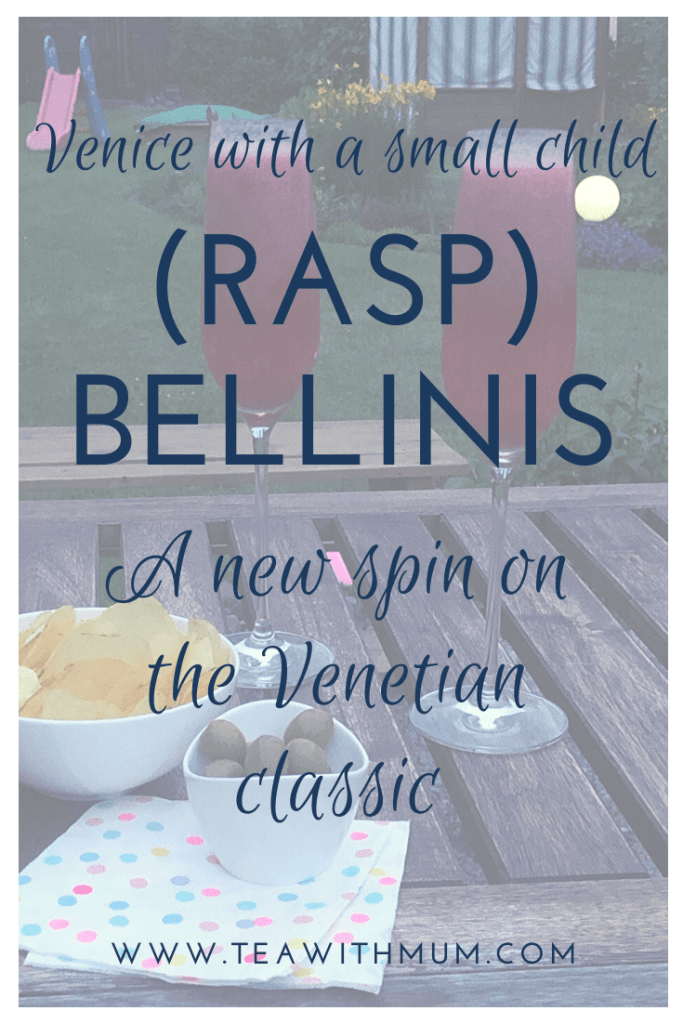 Raspbellinis - a new spin on the Venetian classic; How to make a Raspbellini; our recipe to remember our trip to Venice with a small child; best served with olives and crisps