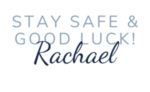 Stay safe & good luck sign off