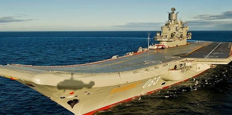 Feuer auf russischem Flugzeugträger