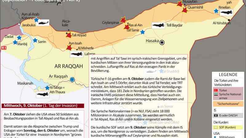 »Krieg in Syrien« | OPERATION »PEACE SPRING« – No. 1 (6. – 9. Oktober 2019)