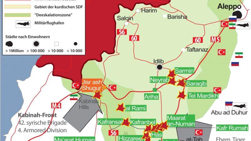 SYRIEN-KRIEG EXKLUSIV (Syria War Map) Nr. 52, Russisch-syrische Offensive in Idlib seit November 2019
