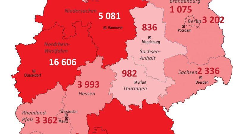 +++ Tebels Coronavirus-Karte von Deutschland +++ aktueller Stand: 3. April, 0.00