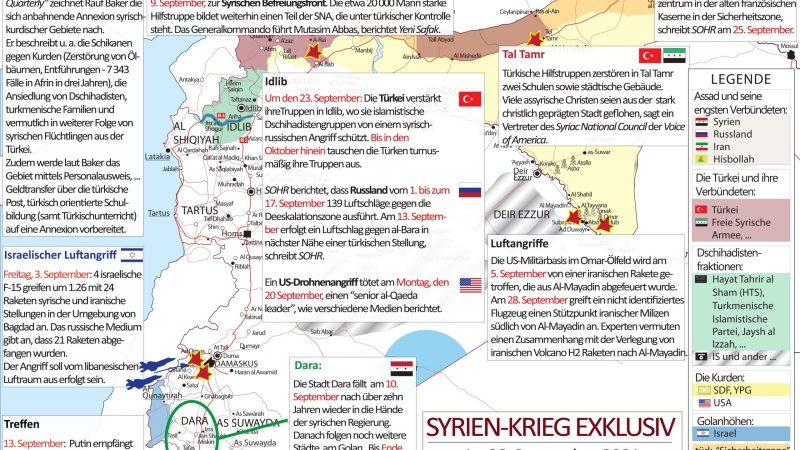 »Krieg in Syrien« | SYRIEN-KRIEG AKTUELL (Syria War Map) Nr. 77, 1. – 31. September 2021