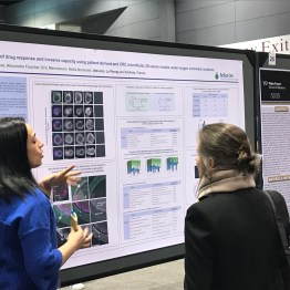 Dora Sabino PhD of tebu-bio at the AACR2018 Poster Session