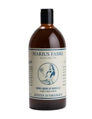 sapone liquido di marsiglia 1000ml buccia d'arancia marius fabre tec-terreecolori calestano-parma