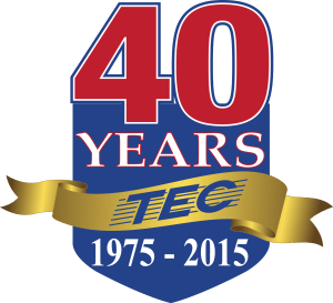 TEC 40th anniversary logo