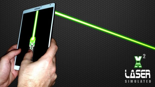 Simulador de laser pointer x2
