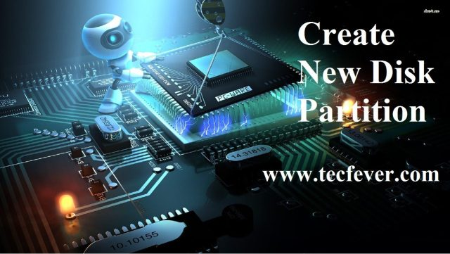 Create New Disk Partition