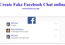 Create Fake Facebook Chat online