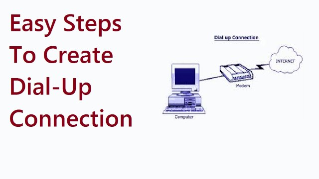 Easy Steps To Create Dial-Up Connection In PC