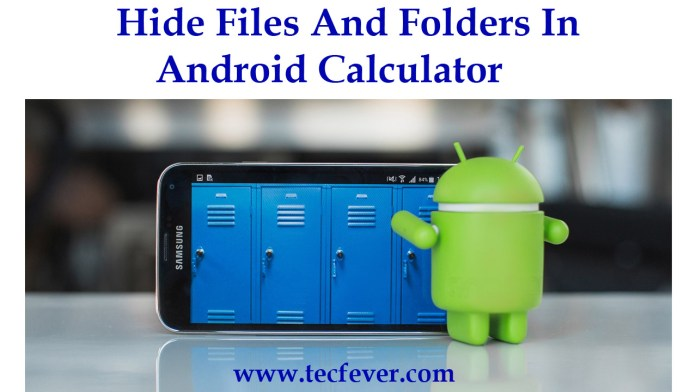 Hide Files And Folders In Android Calculator