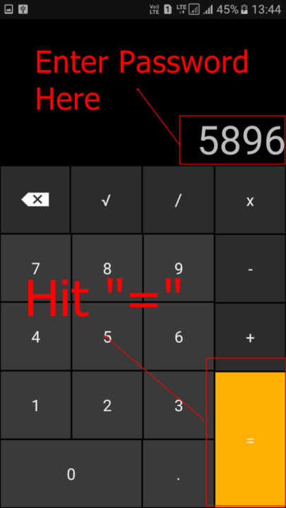 Hide Files And Folders In Android Calculator4
