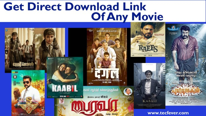 Get Direct Download Link Of Any Movie