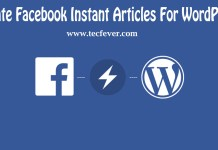 How To Create Facebook Instant Articles For WordPress