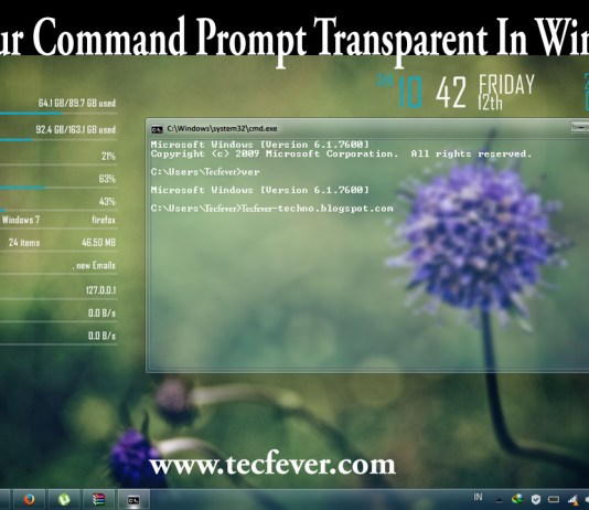 Make Your Command Prompt Transparent In Windows 10