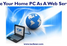Use Your Home PC As A Web Server