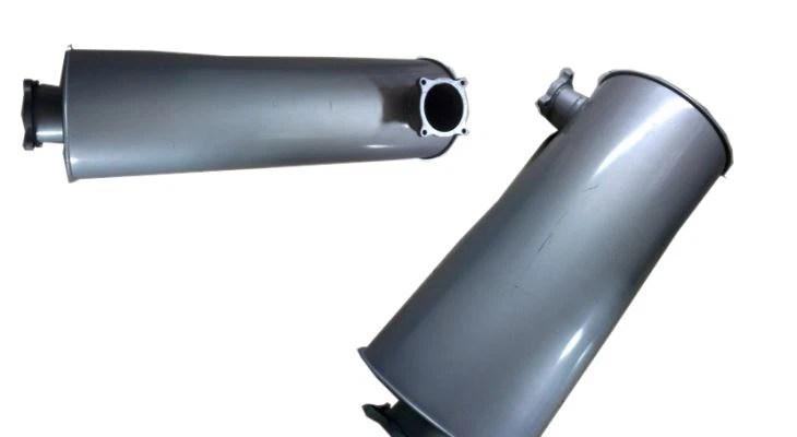 exhaust heat exchanger muffler for a