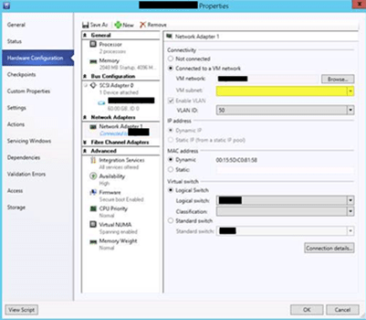 VM network issue in VMM 2012R2 with IPAM integration