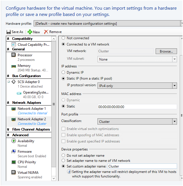 Rename VM's Network Adapters automatically with Virtual