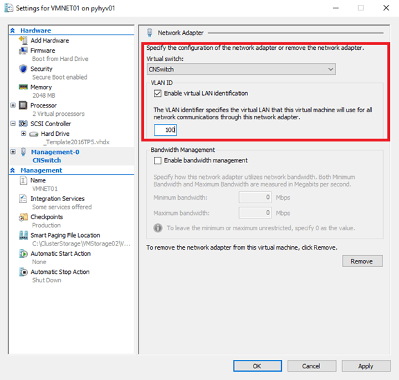 How to deploy a converged network with Windows Server 2016