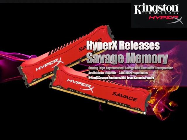 HyperX Releases Savage Memory 3