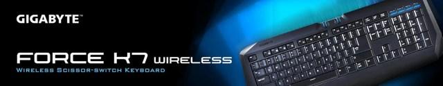 GIGABYTE Introduces FORCE K7 Wireless Keyboard 3