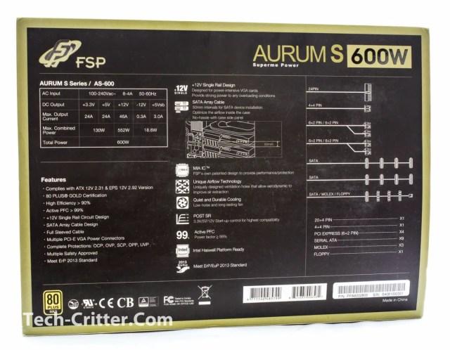Unboxing & Overview: FSP Aurum 600W and Aurum CM 650W 67