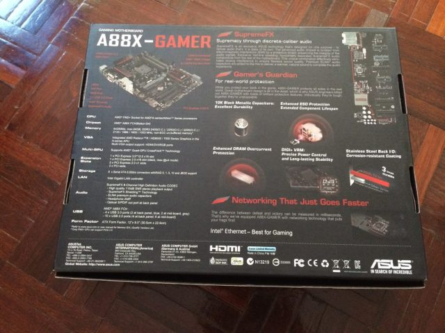 Unboxing & Review: ASUS A88X-Gamer Gaming Motherboard 87